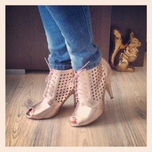 NEU * High Heels rosa metallic Pumps * Fashion Limited * Stiefeletten Ankle Boot