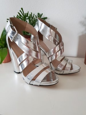 Little Mistress Strapped Sandals silver-colored