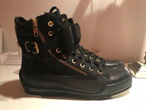 NEU Hightop Sneakers von Candice Cooper Leder schwarz
