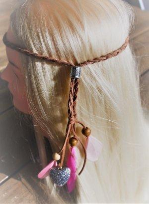 Nastro per capelli multicolore Pelle