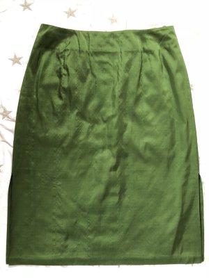 Hirsch Silk Skirt forest green
