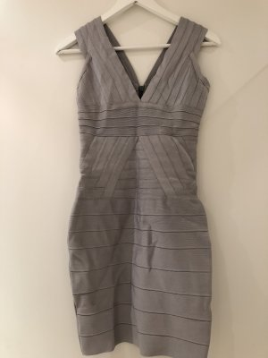 Robe stretch argenté-gris lycra