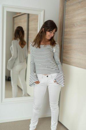 NEU Hollister Shirt gestreift weiß / schwarz M