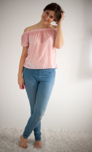 *neu* Hollister tunika top rosa shirt samt