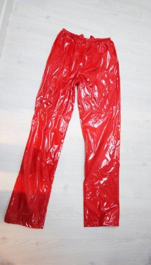 Hoge taille broek rood-zilver