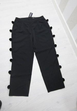 Boohoo Pantalón tobillero negro