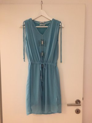 Kaffe Mini-jurk lichtblauw Katoen