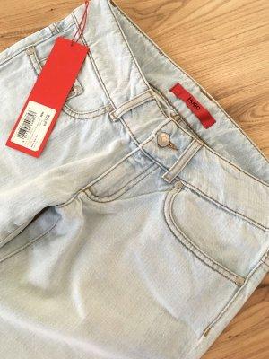 NEU Hugo Boss Damen Jeans Straight Leg W26 XS 34 S 36 Gerades Bein Boyfriend Damenhose Denim