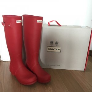 NEU!! Hunter Gummistiefel Gr. 39 Military Red rot