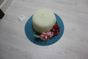 Hat white-blue