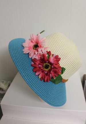 NEU Hut mit Blumen sommerlich chic
