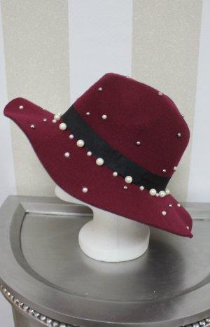 NEU Hut mit Perlen chic