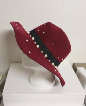 NEU Hut mit Perlen Details