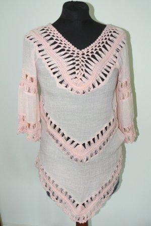 Blusa a tunica rosa chiaro
