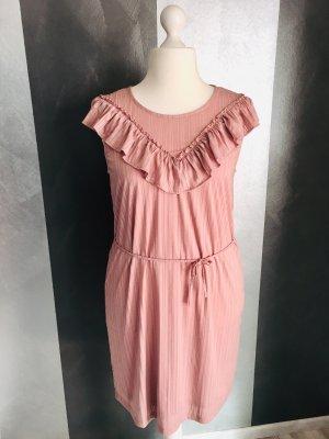 Ichi Vestido estilo flounce rosa-rosa empolvado