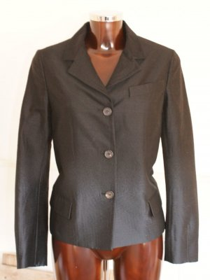 neu! it 40 dt 34 PRADA Luxus Blazer Wolle Seide Schwarz - Jacke Business Event ☀ ☃ ♥ WINTER-SALE ☆ ☀ ☃ ♥
