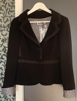 Biancoghiaccio Short Blazer black-white silk