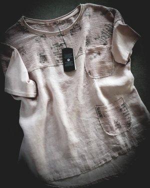 Oversized blouse stoffig roze