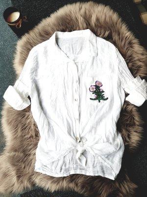 Vanilla Moda Blouse en lin blanc