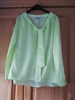 0039 Italy Long Sleeve Blouse meadow green silk