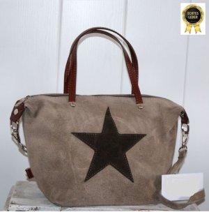 neu ~ ITALY Handtasche echtes Leder mit Stern ~ Schultertasche Umhängetasche ❁❁ toll als Weihnachtsgeschenk ❁❁ jetzt alle Teile mega reduziert :-)