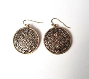NEU Jade & Jasper Vintage Ohrringe Altgold