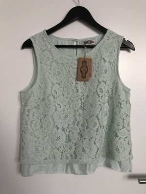 Javier Simorra Lace Top mint