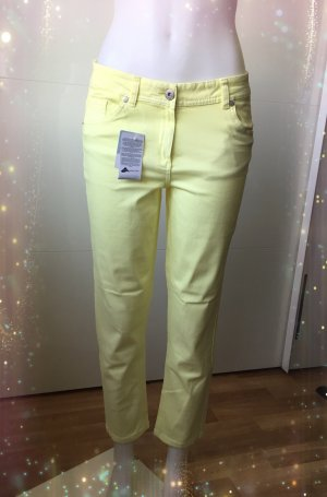 Blue Motion Straight Leg Jeans yellow