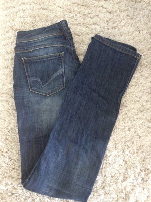 Only Jeans vita bassa blu Cotone