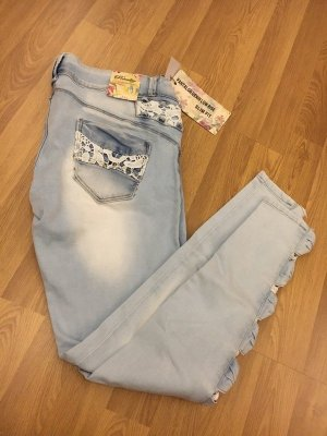 Tube jeans lichtblauw