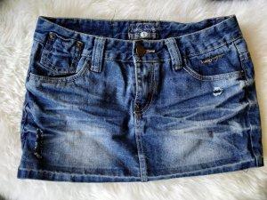 -Neu- Jeansrock dunkelblau ungetragen mini Rock Gr.36 s