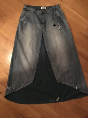 One teaspoon Asymmetry Skirt steel blue-silver-colored