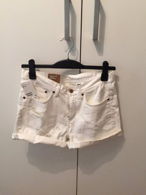 NEU Jeansshorts in weiß mit used look