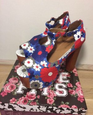 Jeffrey Campbell Platform High-Heeled Sandal red-blue