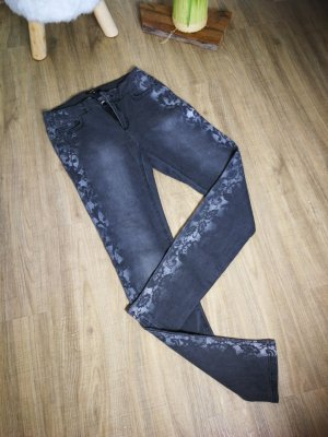 Morgan Stretch jeans zilver-wit Textielvezel