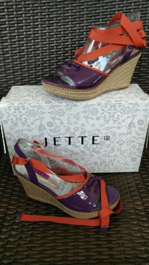 Jette Joop Wedge Sandals multicolored leather