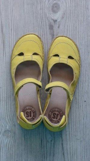Josef seibel Mary Jane Ballerinas yellow leather