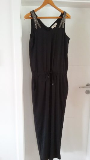 Kaffe Jumpsuit black-silver-colored polyester