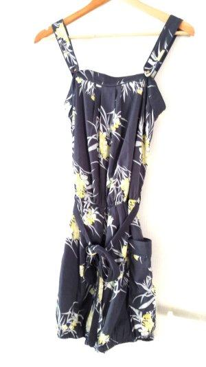 NEU, Jumpsuit mit angesagtem Hawaii Muster in grau/gelb von Vero Moda, Gr. XS