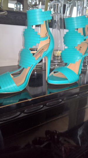 Just Fab Strapped High-Heeled Sandals turquoise