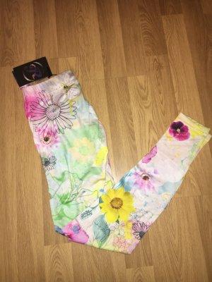 Neu just rhyse leggings Blumen Muster dünn Sommer xs