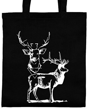 Canvas Bag black-white cotton
