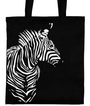 NEU: Jutebeutel Zebra lange Henkel natur Gymbag Jutetasche Siebdruck