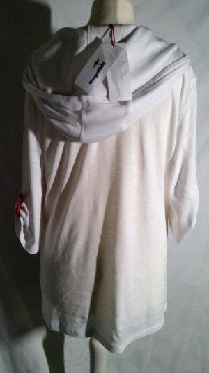 Neu!Kangaros Shirt Kapuze Weiß kurzarm L 42