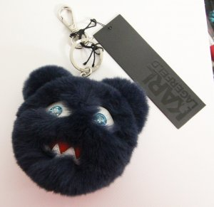 Karl Lagerfeld Key Chain dark blue-silver-colored