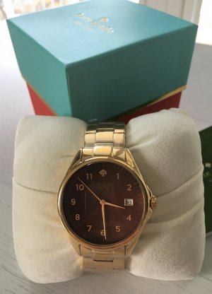 NEU Kate Spade Seaport Grand Damenuhr Gold Braun Uhr