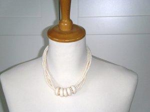 NEU, Kette, Perlenkette mit Ringen, weiß, H&M