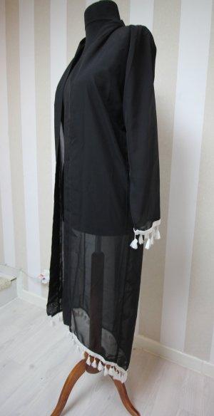 NEU Kimono Mantel Jacke Fransen Festival Look