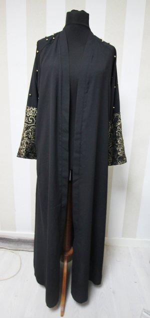 Abrigo largo negro-color oro