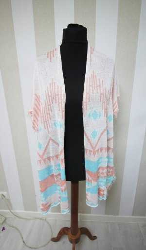 Long Knitted Vest light blue